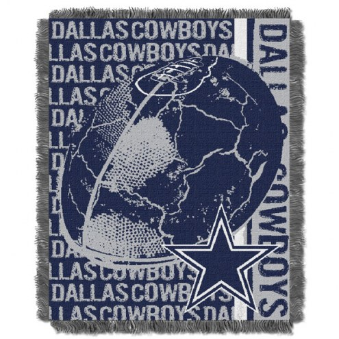 Dallas Cowboys Double Play Jacquard Throw Blanket