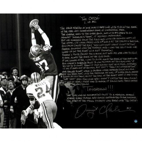 "San Francisco 49ers Dwight Clark 1981 NFC Championship Story Signed 16"" x 20"" Photo"