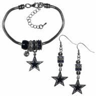 Dallas Cowboys Euro Bead Earrings & Bracelet Set