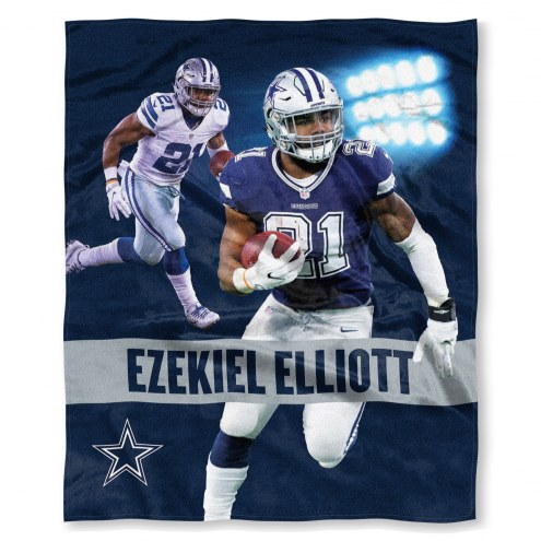 Dallas Cowboys Ezekiel Elliott Silk Touch Blanket