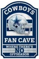 Dallas Cowboys Fan Cave Wood Sign