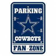 Dallas Cowboys Fan Zone Parking Sign