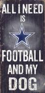 Dallas Cowboys Football & Dog Wood Sign