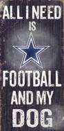 Dallas Cowboys Football & Dog Wood Sign