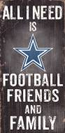 Dallas Cowboys Football, Friends & Family Wood Sign
