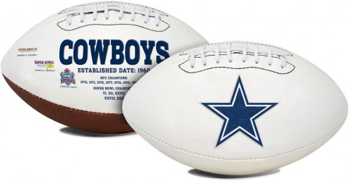 Dallas Cowboys Full Size Embroidered Signature Series Football