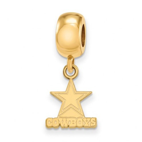 Dallas Cowboys Sterling Silver Gold Plated Extra Small Dangle Bead Charm