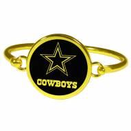 Dallas Cowboys Gold Tone Bangle Bracelet
