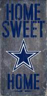 Dallas Cowboys Home Sweet Home Wood Sign