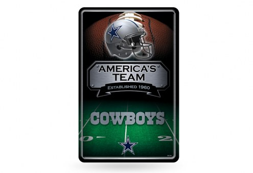 Dallas Cowboys Large Embossed Metal Wall Sign