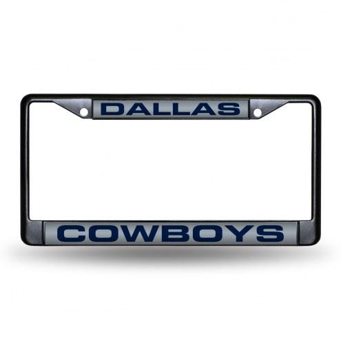 Dallas Cowboys Laser Black License Plate Frame
