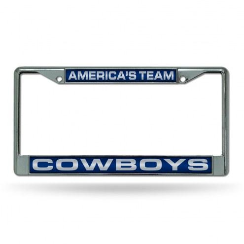 Dallas Cowboys Laser Chrome License Plate Frame