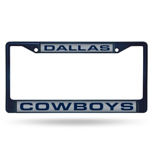 Dallas Cowboys Laser Colored Chrome License Plate Frame