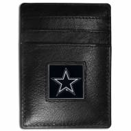 Dallas Cowboys Leather Money Clip/Cardholder in Gift Box