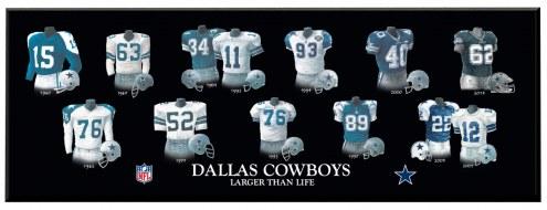 Dallas Cowboys Legacy Uniform Plaque