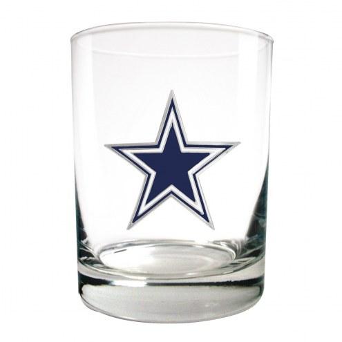 Dallas Cowboys Logo Rocks Glass - Set of 2