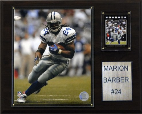 "Dallas Cowboys Marion Barber III 12 x 15"" Player Plaque"