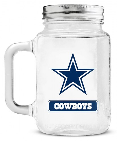 Dallas Cowboys Mason Glass Jar