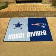 Dallas Cowboys/New England Patriots House Divided Mat