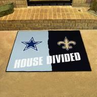 Dallas Cowboys/New Orleans Saints House Divided Mat