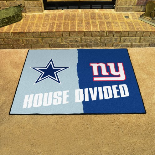 Dallas Cowboys/New York Giants House Divided Mat