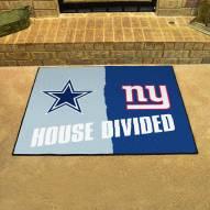 Dallas Cowboys/New York Giants House Divided Mat