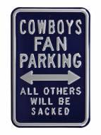 Dallas Cowboys NFL Authentic Parking Sign