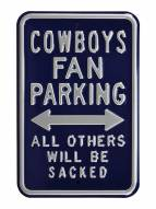 Dallas Cowboys NFL Authentic Parking Sign