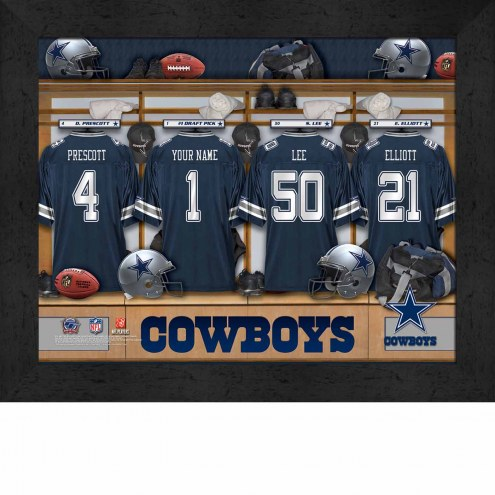 Dallas Cowboys NFL Personalized Locker Room 11 x 14 Framed Photograph