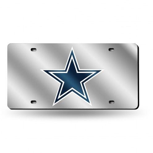 Dallas Cowboys NFL Silver Laser License Plate