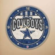 Dallas Cowboys NFL Stained Glass Wall Clock