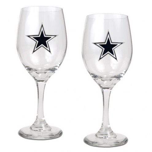 Dallas Cowboys NFL Wine Glass - Set of 2