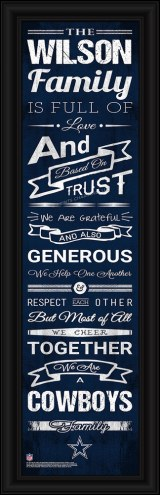 Dallas Cowboys Personalized Family Cheer Framed Art