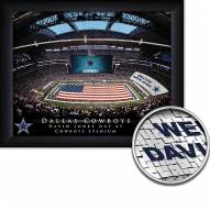 Dallas Cowboys 11 x 14 Personalized Framed Stadium Print