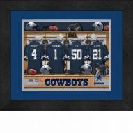 Dallas Cowboys Personalized Locker Room 13 x 16 Framed Photograph