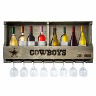 Dallas Cowboys Reclaimed Wood Bar Shelf