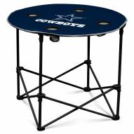 Dallas Cowboys Round Folding Table