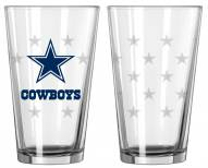 Dallas Cowboys Satin Etch Pint Glass - Set of 2