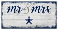 Dallas Cowboys Script Mr. & Mrs. Sign