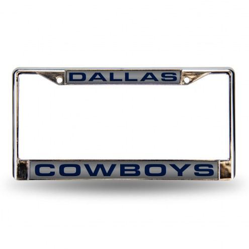 Dallas Cowboys Silver Laser Chrome License Plate Frame