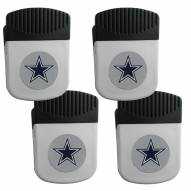 Dallas Cowboys 4 Pack Chip Clip Magnet with Bottle Opener