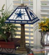 Dallas Cowboys Stained Glass Mission Table Lamp