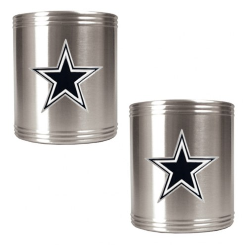 Dallas Cowboys Stainless Steel Can Coozie Set