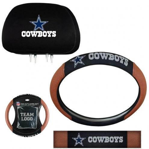 Dallas Cowboys Steering Wheel & Headrest Cover Set