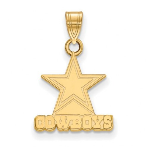 Dallas Cowboys Sterling Silver Gold Plated Small Pendant