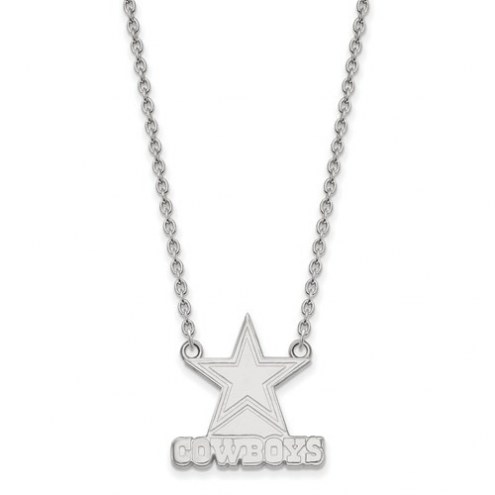 Dallas Cowboys Sterling Silver Large Pendant with Necklace