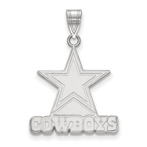 Dallas Cowboys Sterling Silver Large Pendant
