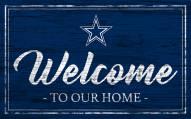 Dallas Cowboys Team Color Welcome Sign