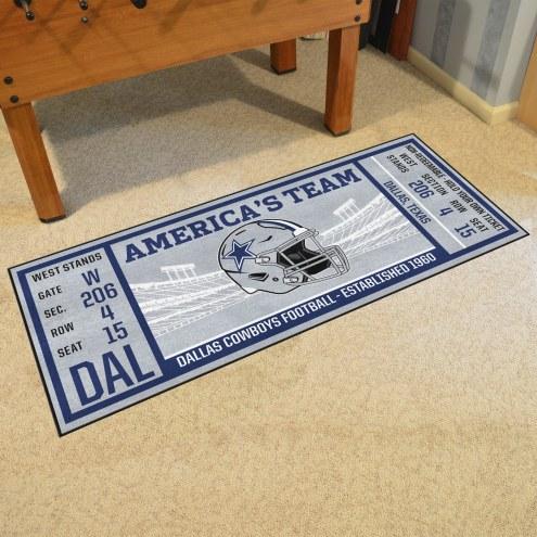 Dallas Cowboys Ticket Runner Rug
