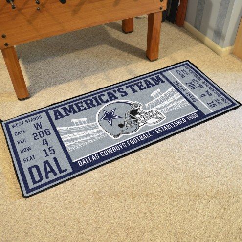 Dallas Cowboys Ticket Runner Rug